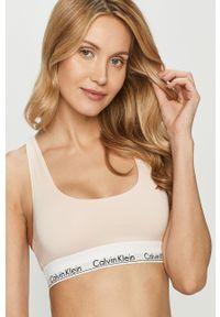 Różowy biustonosz sportowy Calvin Klein Underwear z nadrukiem