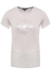 Szary t-shirt Lauren Ralph Lauren