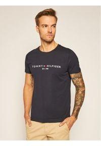 TOMMY HILFIGER - Tommy Hilfiger T-Shirt Core Logo Tee MW0MW11465 Granatowy Regular Fit. Kolor: niebieski
