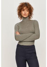 Szary sweter Polo Ralph Lauren z długim rękawem, polo, długi