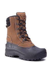 Brązowe buty zimowe CMP z cholewką