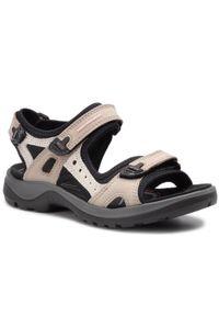 Beżowe sandały trekkingowe ecco
