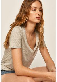 Szara bluzka Answear Lab wakacyjna, na co dzień, melanż