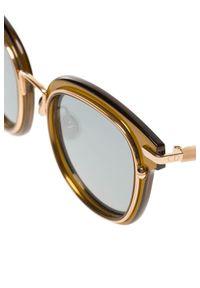 Brązowe okulary przeciwsłoneczne Dior z motywem zwierzęcym