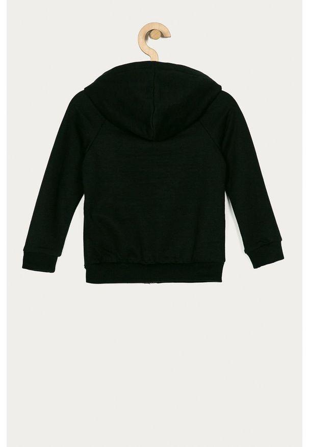 Czarna bluza rozpinana Roxy casualowa, z nadrukiem, na co dzień