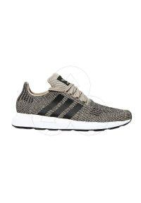 Czarne buty sportowe Adidas wąskie, do biegania, z cholewką