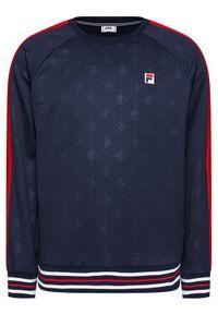 Fila Bluza Hinto 687883 Granatowy Regular Fit. Kolor: niebieski
