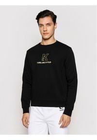 Karl Lagerfeld - KARL LAGERFELD Bluza 705033 511900 Czarny Regular Fit. Typ kołnierza: dekolt w karo. Kolor: czarny