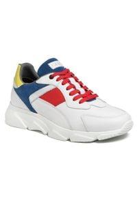 Sneakersy GOE - FF1N3004 White Multi. Kolor: biały. Materiał: zamsz, skóra. Szerokość cholewki: normalna. Styl: klasyczny