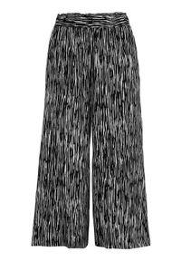 Cellbes Wzorzyste spodnie typu culotte Czarny biały female czarny/biały 46/48. Kolor: czarny, biały, wielokolorowy. Materiał: wiskoza, włókno, guma, materiał. Styl: klasyczny