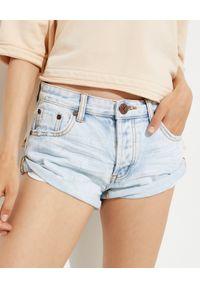 ONETEASPOON - Jeansowe szorty Bandits Low Waist. Stan: obniżony. Kolor: niebieski. Materiał: jeans. Wzór: aplikacja