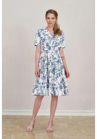 Marie Zélie - Sukienka Alodia Credula. Materiał: bawełna, skóra, materiał, elastan. Długość rękawa: krótki rękaw