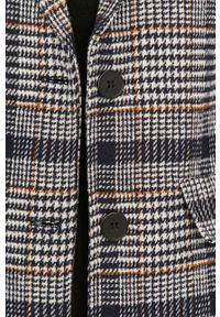 Niebieski płaszcz Answear Lab wakacyjny, bez kaptura, na co dzień