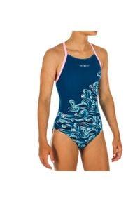 NABAIJI - Strój jednoczęściowy pływacki Jade Wave dla dzieci. Kolor: wielokolorowy, turkusowy, niebieski. Materiał: poliamid, materiał, poliester