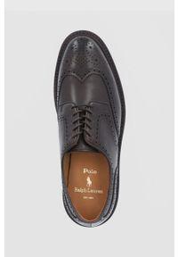 Polo Ralph Lauren - Półbuty skórzane. Nosek buta: okrągły. Zapięcie: sznurówki. Kolor: brązowy. Materiał: skóra