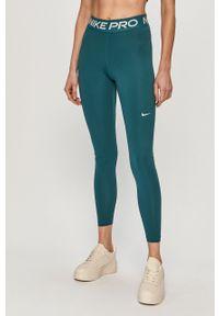 Zielone legginsy Nike z nadrukiem