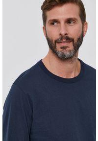 United Colors of Benetton - Longsleeve bawełniany. Okazja: na co dzień. Kolor: niebieski. Materiał: bawełna. Długość rękawa: długi rękaw. Styl: casual