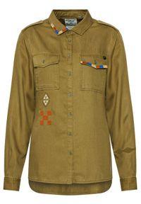 Superdry Koszula Military W4010154A Zielony Regular Fit. Kolor: zielony #3