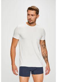 Niebieski t-shirt Levi's® w kolorowe wzory, casualowy, z okrągłym kołnierzem, na spotkanie biznesowe