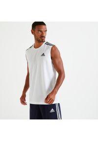 Adidas - Koszulka bez rękawów fitness Aeroready. Materiał: skóra, materiał. Długość rękawa: bez rękawów. Styl: klasyczny