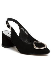 Czarne sandały Karino z aplikacjami, na co dzień, casualowe