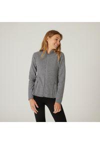 NYAMBA - Bluza na zamek fitness Freemove. Kolor: szary. Materiał: włókno, elastan, materiał, tkanina, bawełna. Sezon: zima. Sport: fitness