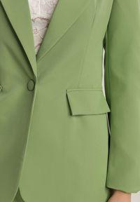 Renee - Jasnozielona Marynarka Kaliphethe. Kolor: zielony. Długość rękawa: długi rękaw. Długość: długie. Styl: elegancki #5