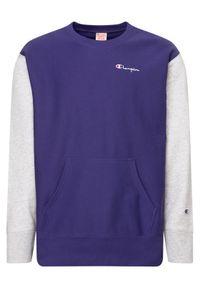 Champion Bluza Premium Crewneck 214284 Fioletowy Regular Fit. Kolor: fioletowy