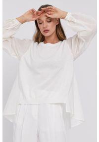 TwinSet - Twinset - Sweter. Okazja: na co dzień. Kolor: beżowy. Długość rękawa: długi rękaw. Długość: długie. Styl: casual