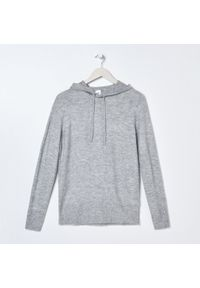 Szary sweter Sinsay z kapturem