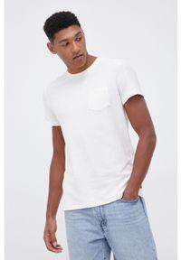 Tom Tailor - T-shirt bawełniany. Okazja: na co dzień. Kolor: beżowy. Materiał: bawełna. Styl: casual
