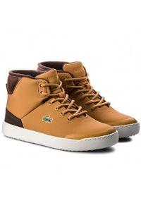 Brązowe buty sportowe Lacoste