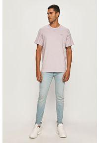 Fioletowy t-shirt Levi's® na co dzień, z aplikacjami