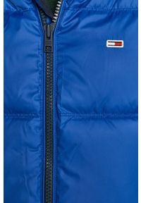 Niebieska kamizelka Tommy Jeans casualowa, na co dzień, z kapturem