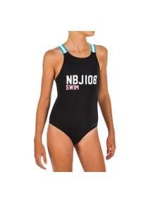 NABAIJI - Strój Jednoczęściowy Pływacki Vega Nbji Dla Dzieci. Kolor: czarny. Materiał: poliamid, materiał, elastan
