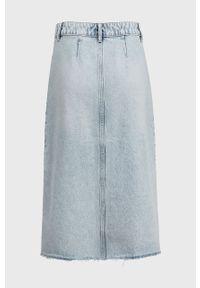Niebieska spódnica AllSaints casualowa, na co dzień