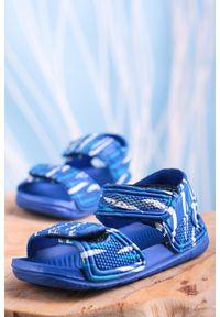 Casu - niebieskie sandały niemowlęce niechodki na rzepy casu 6320-1. Zapięcie: rzepy. Kolor: niebieski