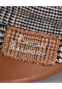 RUSLAN BAGINSKIY - Wełniany kaszkiet w kratkę. Kolor: brązowy. Materiał: wełna. Wzór: kratka. Sezon: jesień