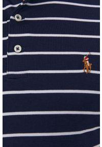 Polo Ralph Lauren - Polo. Typ kołnierza: polo. Kolor: niebieski. Materiał: dzianina
