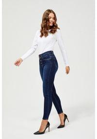 MOODO - Jeansy skinny. Długość: długie. Wzór: gładki