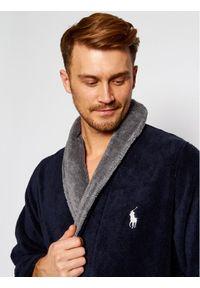 Niebieski szlafrok Polo Ralph Lauren polo