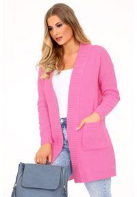 Różowy kardigan Merribel elegancki