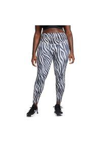 Spodnie damskie fitness Nike One 7/8 DC5276. Materiał: tkanina, skóra, poliester, materiał. Technologia: Dri-Fit (Nike). Wzór: gładki. Sport: fitness