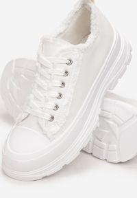 Born2be - Białe Trampki Aethelia. Kolor: biały