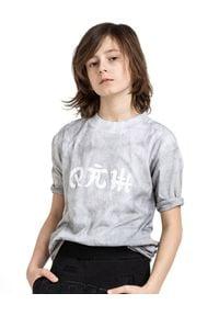 ROBERT KUPISZ - Szary t-shirt ORINET. Kolor: szary. Materiał: bawełna. Długość rękawa: długi rękaw. Długość: długie