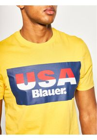 Blauer T-Shirt Soft 20SBLUH02158 004547 Żółty Regular Fit. Kolor: żółty