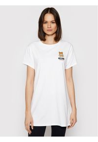 Moschino Underwear & Swim - MOSCHINO Underwear & Swim T-Shirt 1910 9021 Biały Regular Fit. Okazja: na co dzień. Kolor: biały. Typ sukienki: proste. Styl: casual