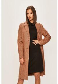 Brązowy płaszcz Vero Moda na co dzień, casualowy, bez kaptura