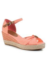 Pomarańczowe sandały TOMMY HILFIGER casualowe, na co dzień