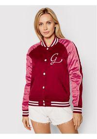 Guess Kurtka bomber Tiffany W1YL83 WD1R2 Różowy Slim Fit. Kolor: różowy